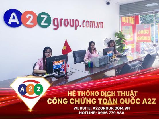 Dịch thuật công chứng tiếng Trung tại Thủ Dầu Một - Bình Dương